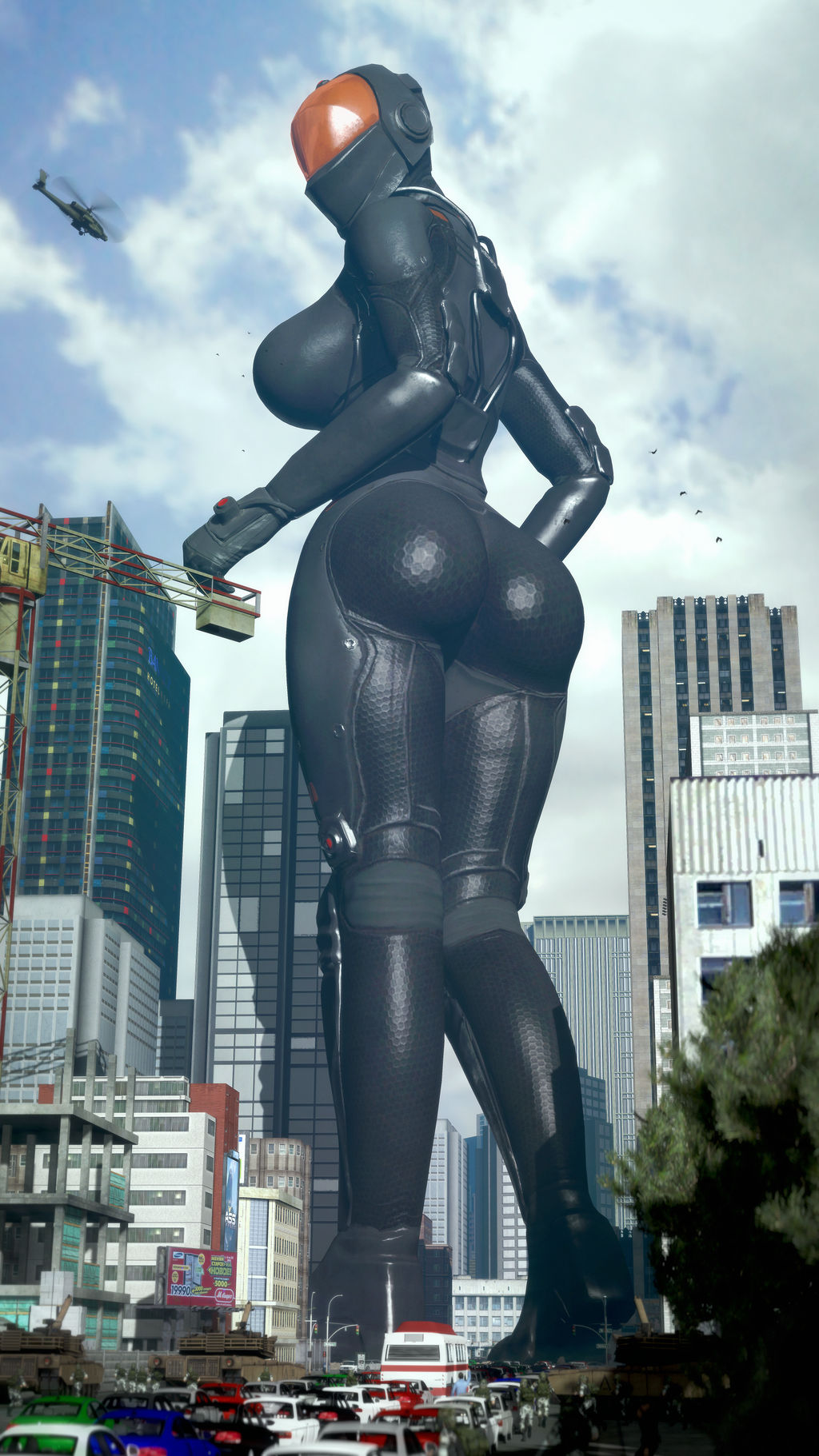 [sfm giantess] Chinese stealth suit