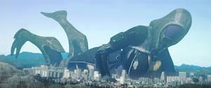 [sfm giantess] Alien invasion?