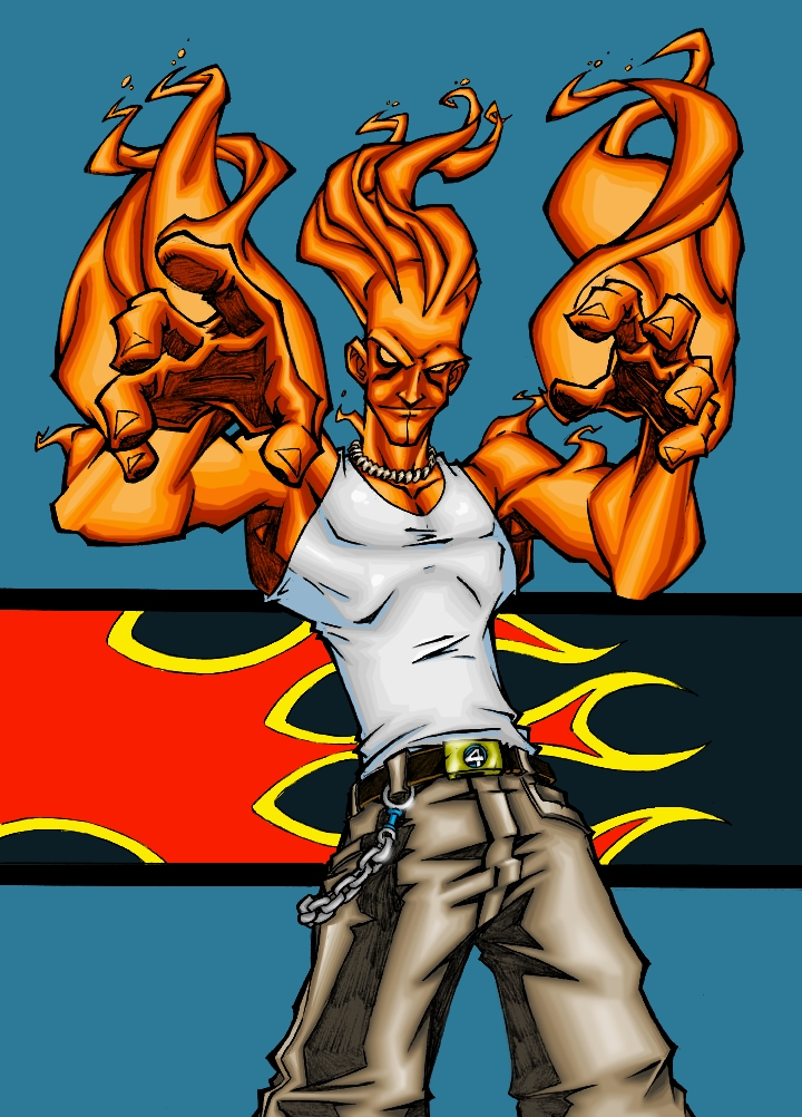 Human Torch by Scottie Young