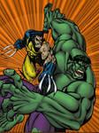Hulk vs. Wolverine by Lakcoo2u