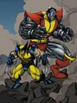 Logan and Collosus by Lakcoo2