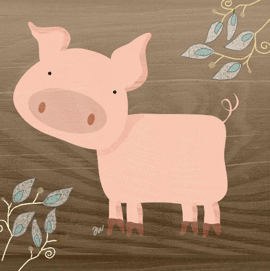 Farm Animals - Pig by hockeychick