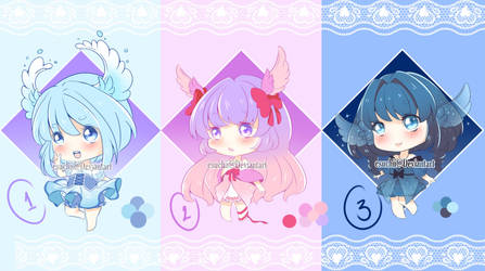 Wings Ears Adoptables [OPEN 3/3] by EsuChii