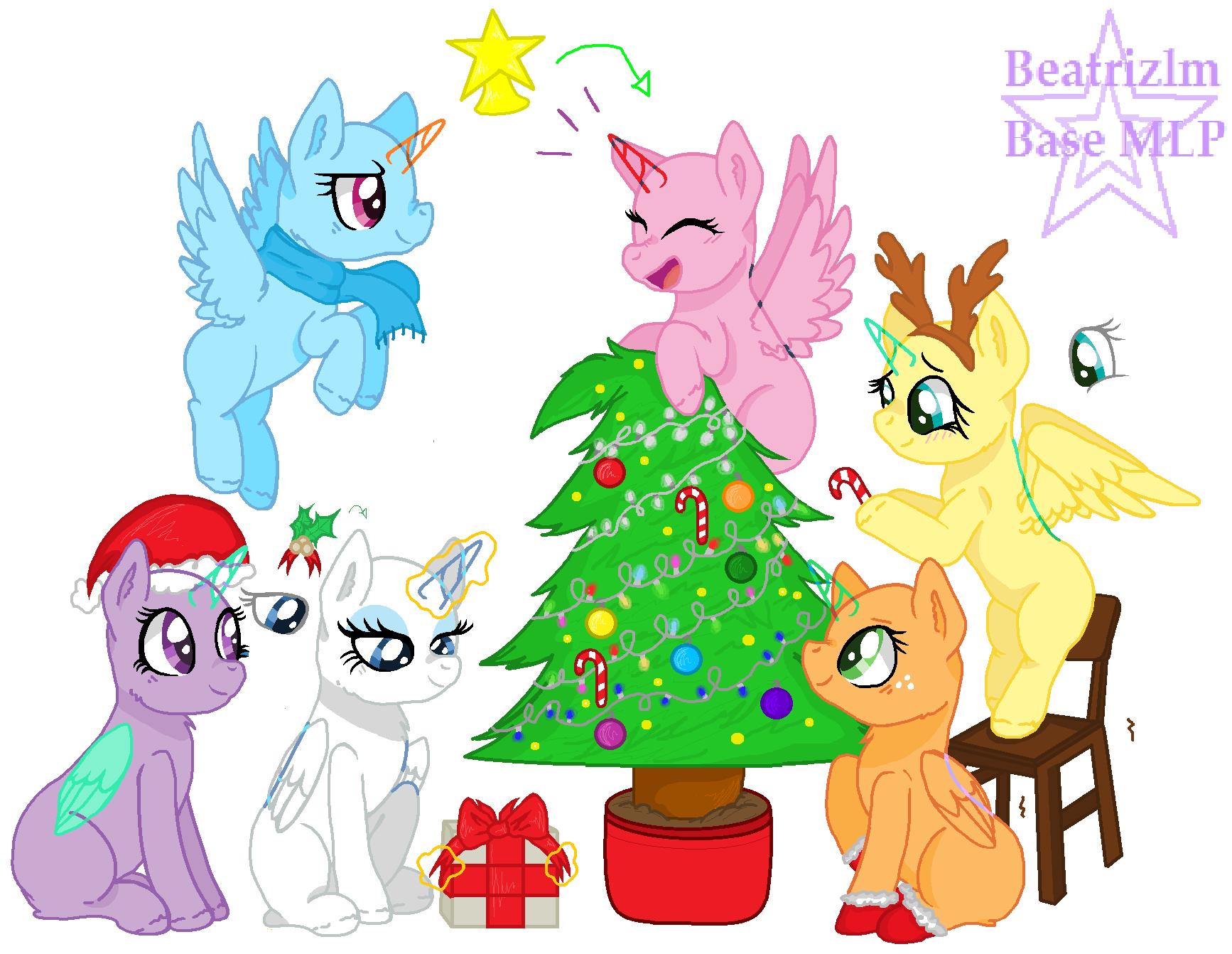 Mlp Christmas.Mlp Base 4 Christmas Base By Beatrizlm On Deviantart