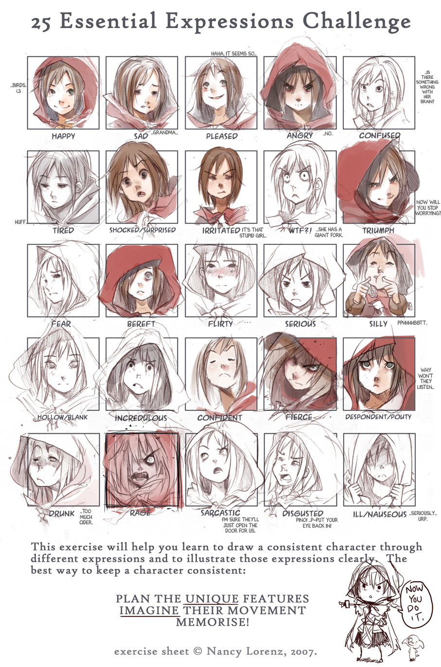 Character Design Challenge Deviantart : Expressions red by endling on deviantart
