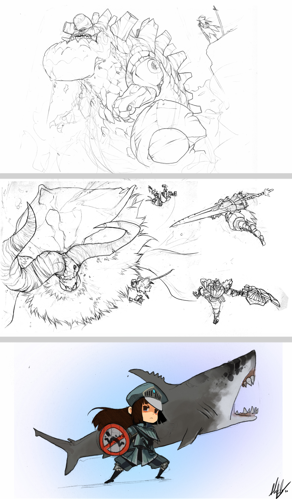Monster Hunter Scraps. by Endling