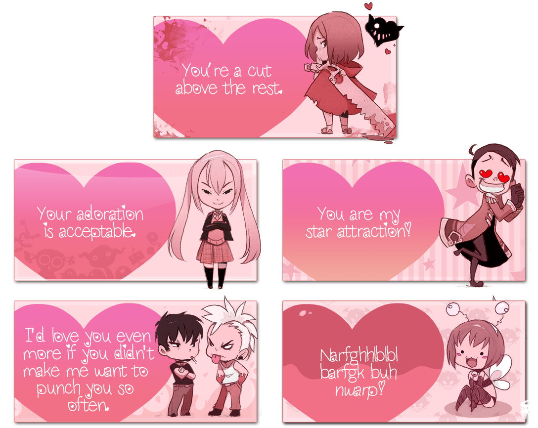 OC Valentine Cards by Endling