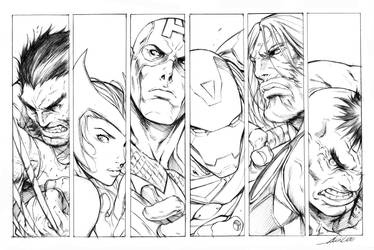 The Avengers - Style Test by alvinlee