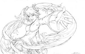 HATSUNEMIKU+COROLLA-PENCILS by alvinlee