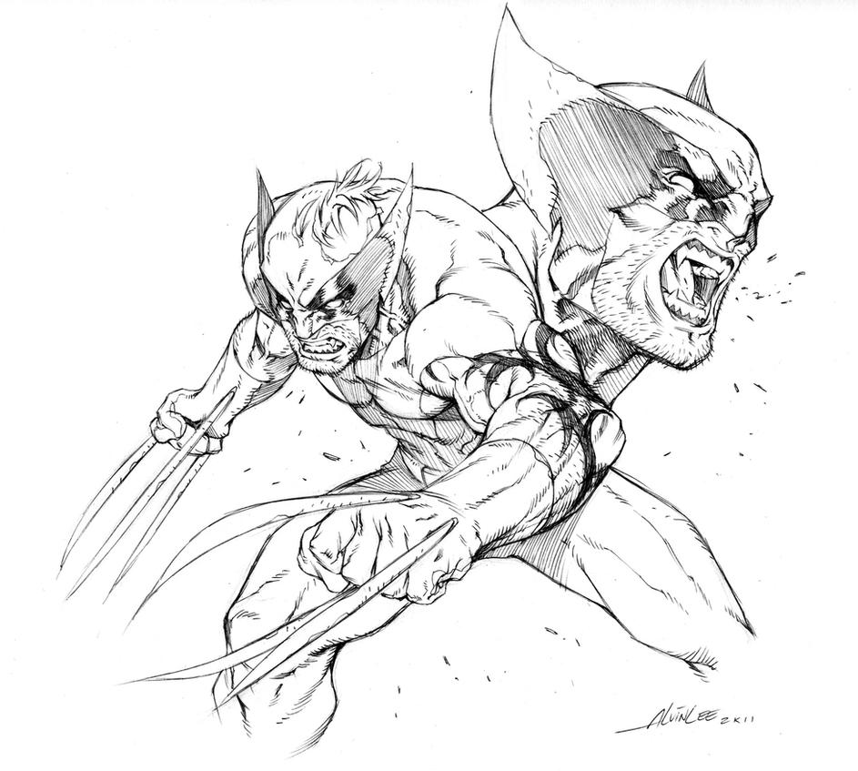 DARK WOLVERINE - STYLE TEST by alvinlee