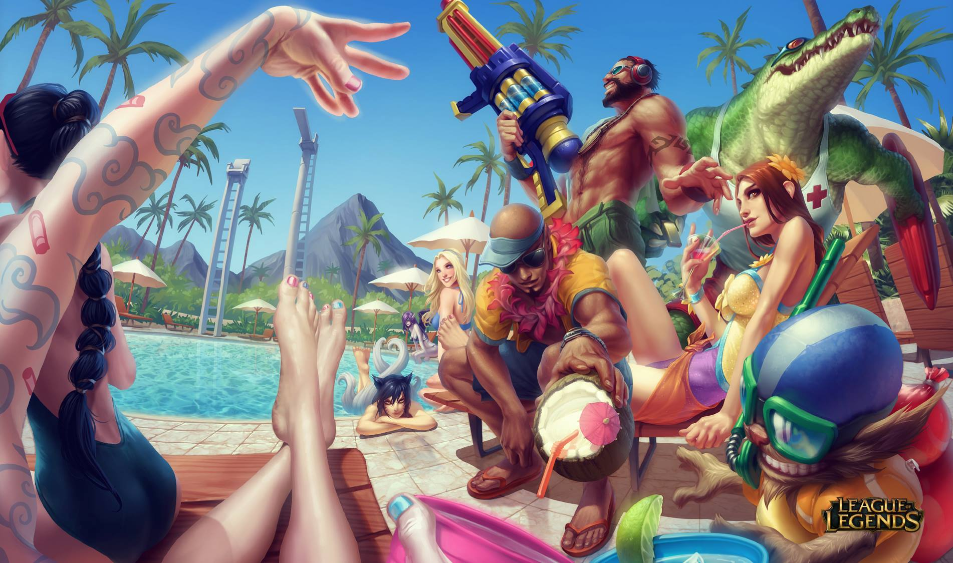 League of Legends - Pool Party! by alvinlee on DeviantArt