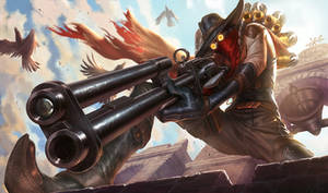 High Noon Jhin - Splash Art by alvinlee