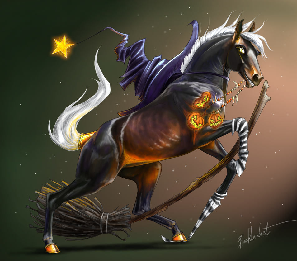 Cool Wallpaper Halloween Horse - horse_witch_on_halloween_by_blacklawliet-d6ndyue  Pictures_37869.png