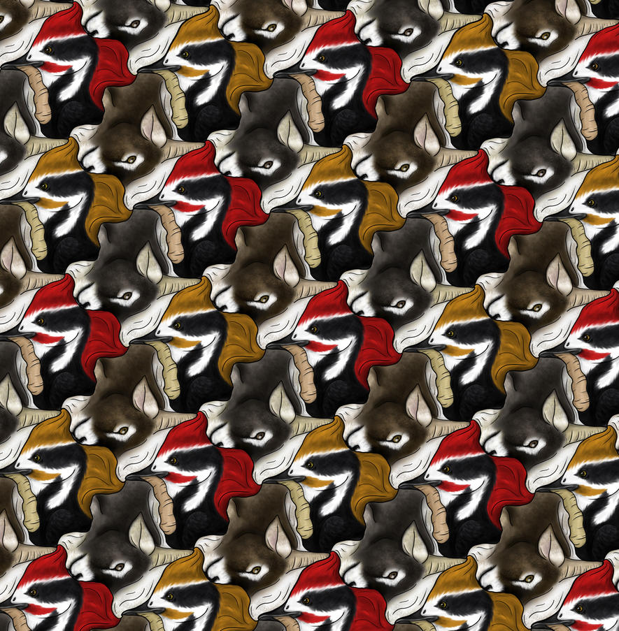 dog tessellation art - photo #9