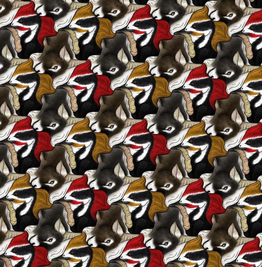dog tessellation art - photo #9
