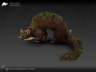 Monterey the Pine Marten [CHARACTER FOR SALE] by NoelleMBrooks