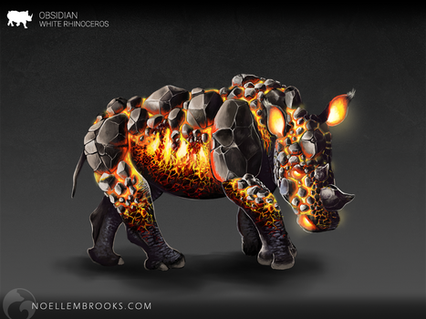 Obsidian the White Rhinoceros  [CHARACTER FORSALE] by NoelleMBrooks