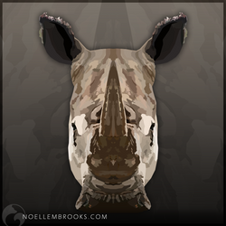 White Rhinoceros by NoelleMBrooks