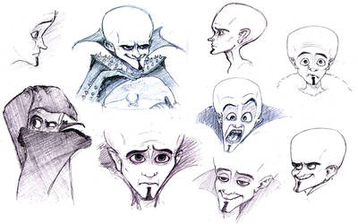 megamind faces by Kambrya