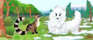 Genet meets polar fox by Kambrya