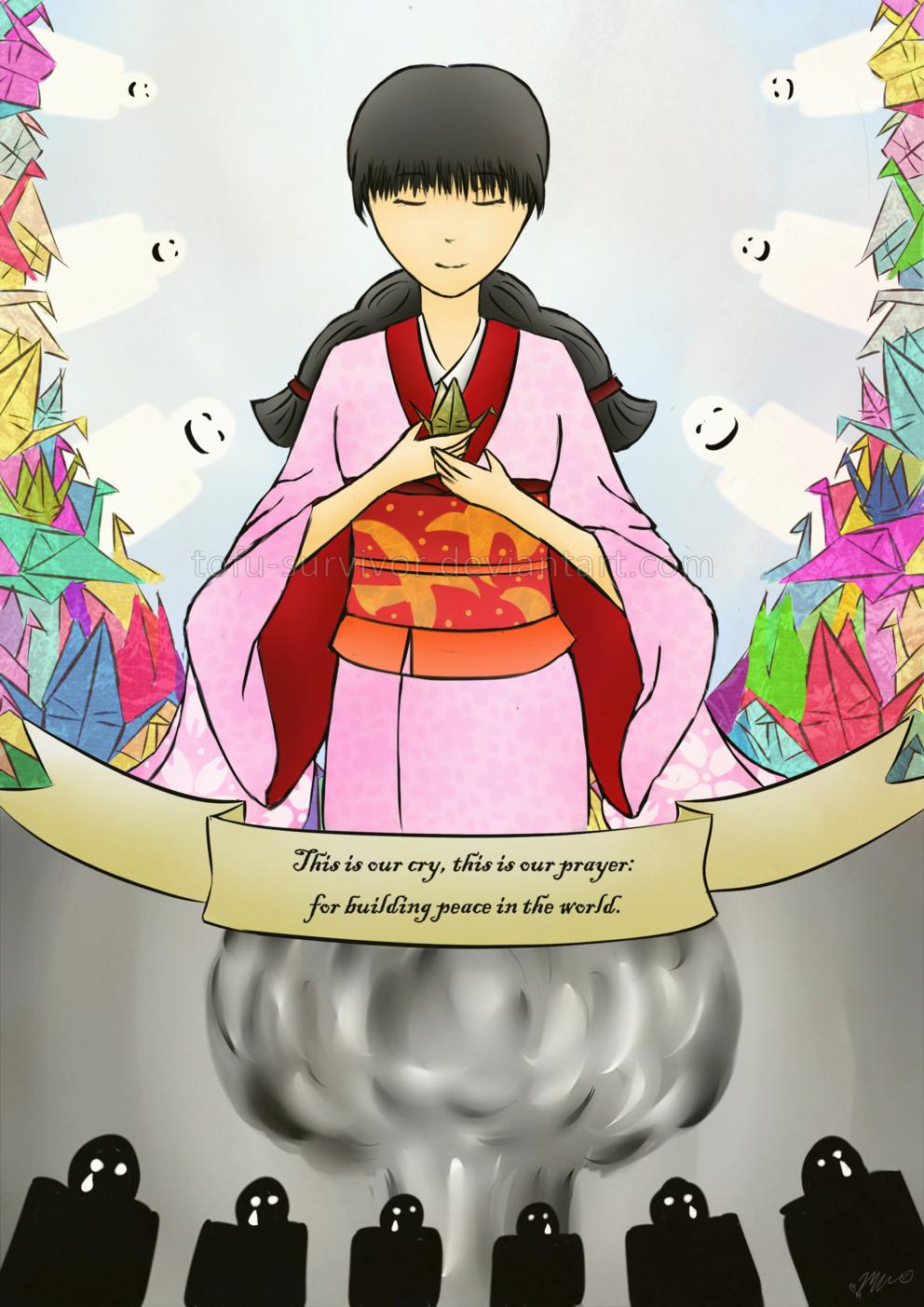 Sadako and the Thousand Paper Cranes by tofu-survivor on DeviantArt
