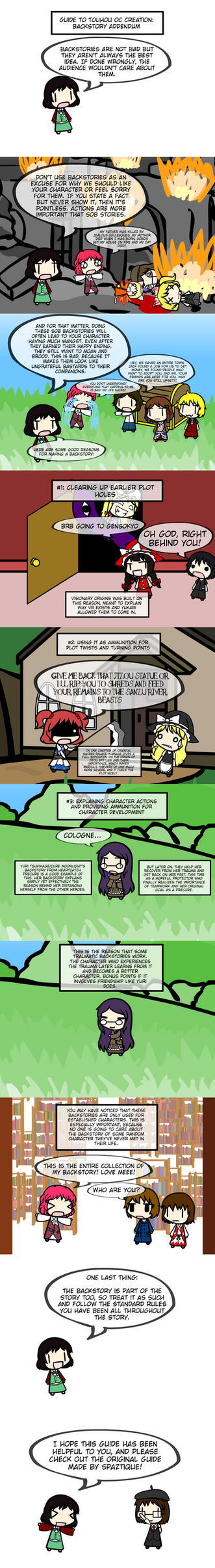 Guide to Touhou OC Creation: Backstory ADDENDUM by Kigurou-Enkou