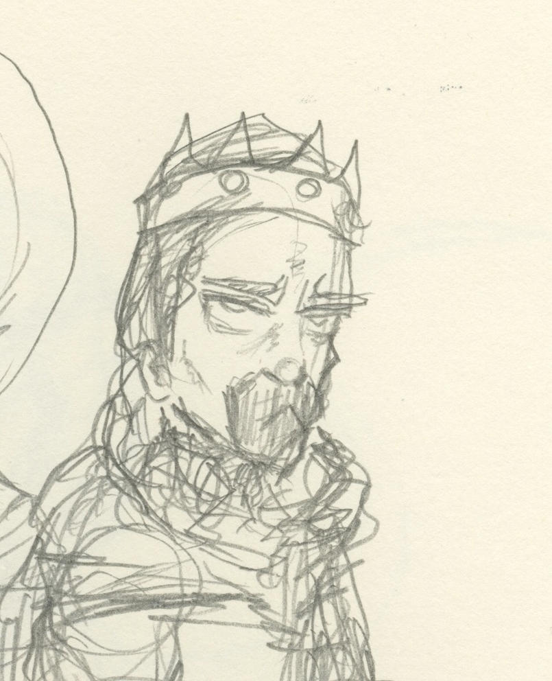 the sketch of a king by calebsoaring on deviantart