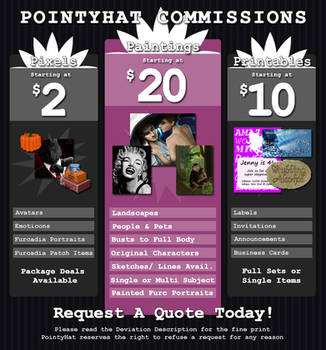 Updated Commission Information {09/30/17} by PointyHat