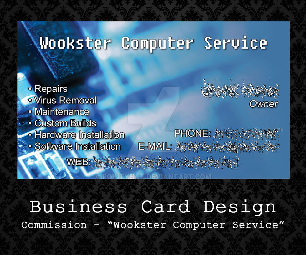 Custom Business Card - Wookster Computer Service by PointyHat