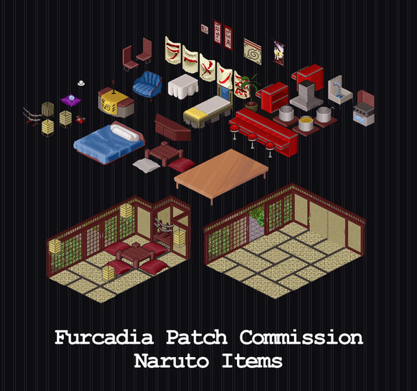 Furcadia Commission - Naruto Items by PointyHat