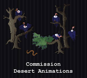 COMMISSION - Desert Animations by PointyHat