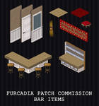 FURCADIA PATCH COMMISSION -- BAR ITEMS by PointyHat