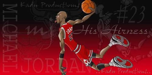 Animated Michael Jordan