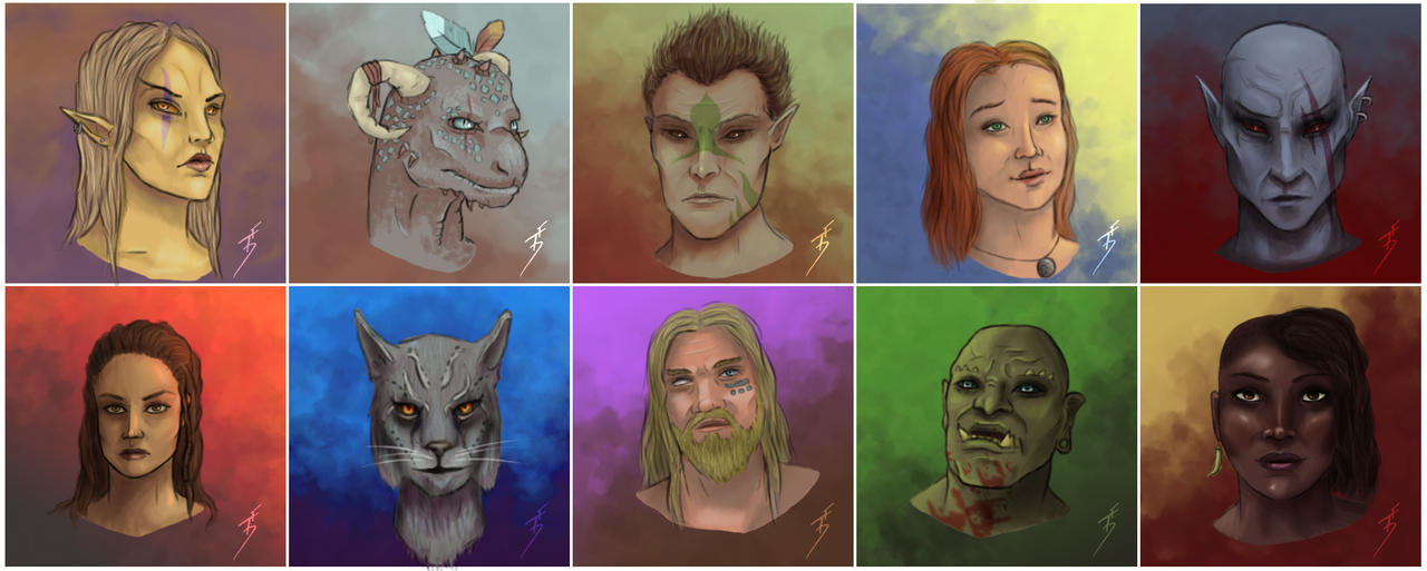 Races of Tamriel by ThePurpleSorcerer on DeviantArt