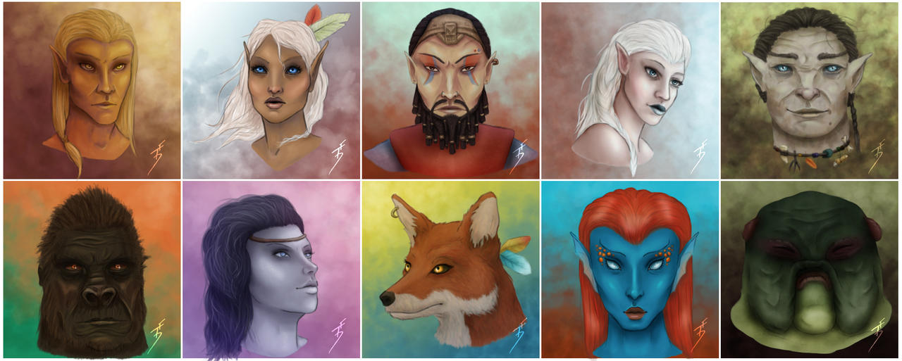 The Other Races of Tamriel by ThePurpleSorcerer on DeviantArt