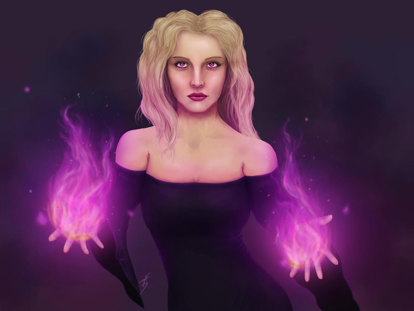 Witch Concept 1 by ThePurpleSorcerer