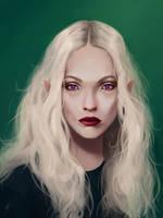 Elven Maiden by TobyFoxArt