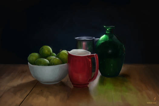 Still Life with Greengages