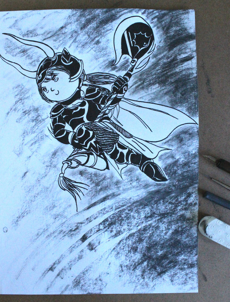 Lalafellin Warrior of Light by Cederbom