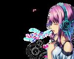 Random Anime girl render