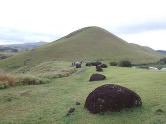 Red Scoria mine, Easter Island