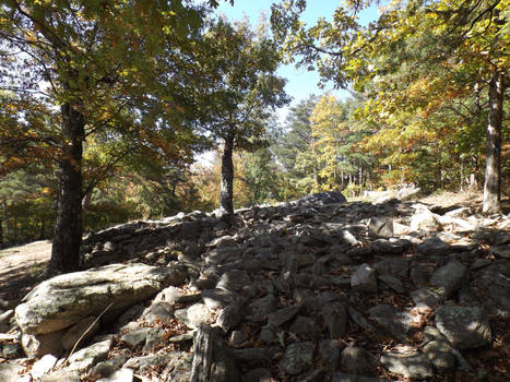 Mystery ruins, Fort Mountain