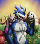 ExVeemon, Lopmon and Terriermon
