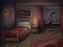 haunted bedroom by sushy00