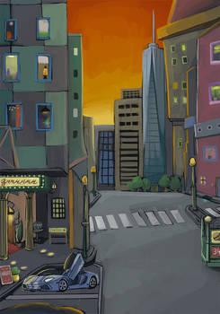 Lamborghini cityscape