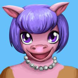 commission: cow portrait 1