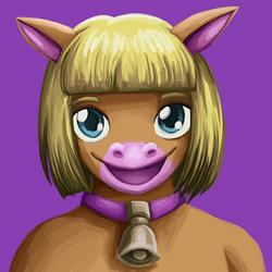 commission: cow portrait 2