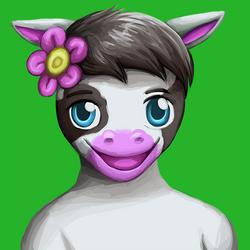 commission: cow portrait 3