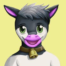 commission: cow portrait 4