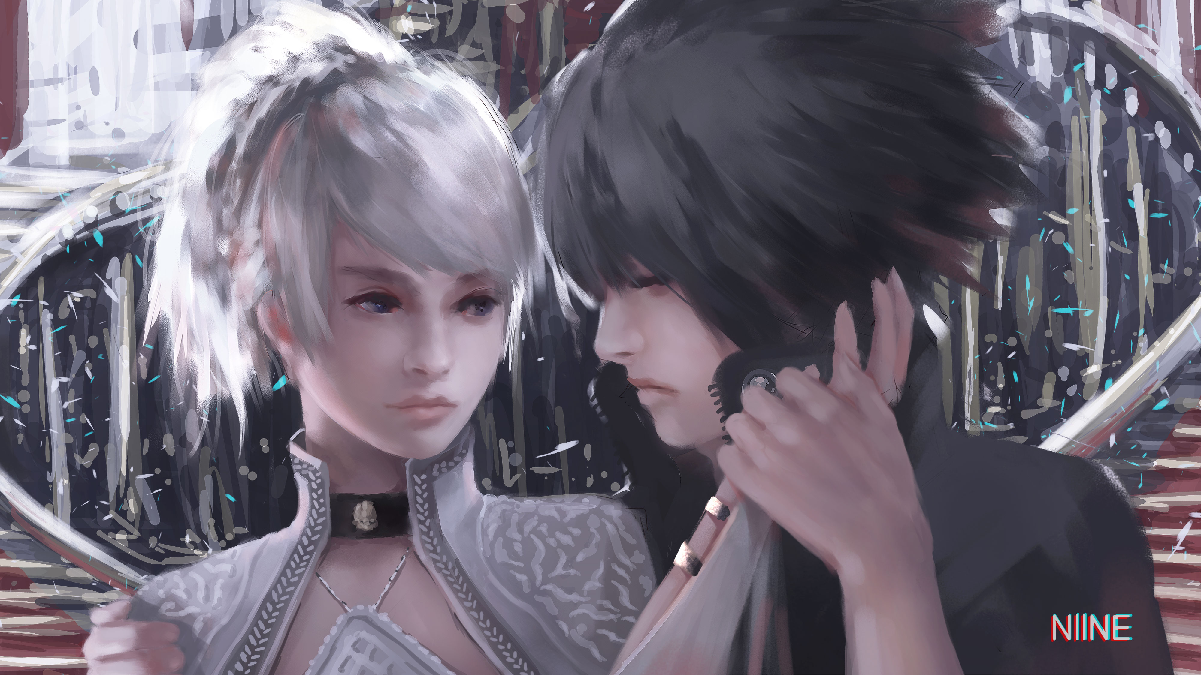 Noctis Lucis Caelum Final Fantasy Xv 4k Hd Games 4k: Luna And Noctis By NiineArt On DeviantArt